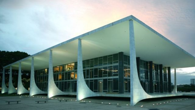 A sede do STF em Brasília