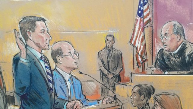 Court sketch of Michael Flynn in court on 1 December