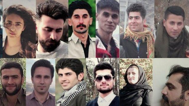 تصویر شماری از بازداشت شدگان که سایت فعالان حقوق بشر در کردستان منتشر کرده است