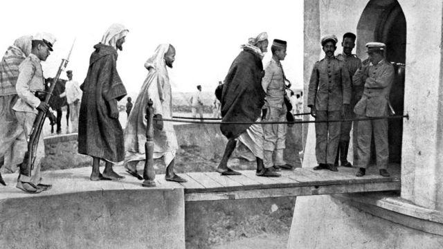 مقاتلون مغربيون شاركوا في القتال ضد إسبانيا من أجل السيطرة على مليلة عام 1909
