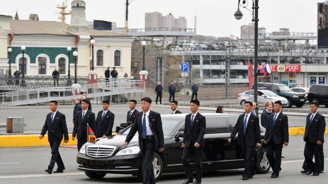 kim arrives in Vladivostok