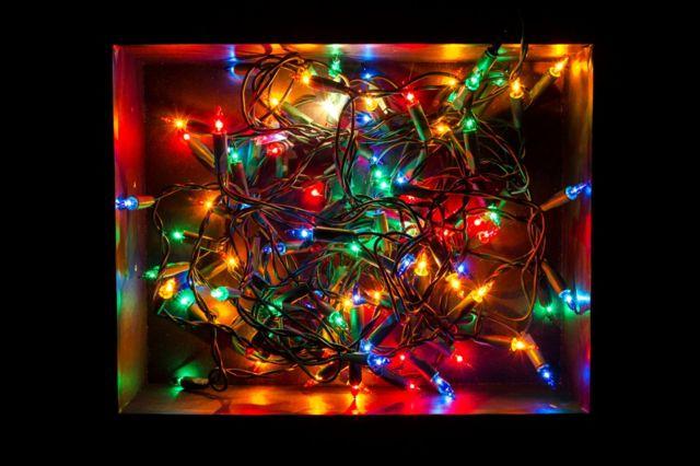 Lumières de Noël enchevêtrées