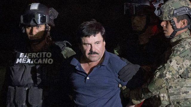 """Joaquín """"El Chapo"""" Guzman a hannun jami'an tsaro"""