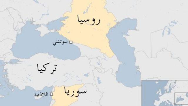 خريطة لموقع الحادث