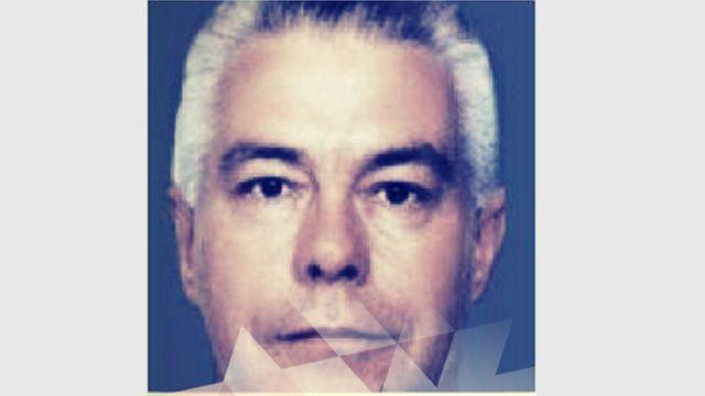 Luiz Carlos da Rocha with white hair in a handout photo from police