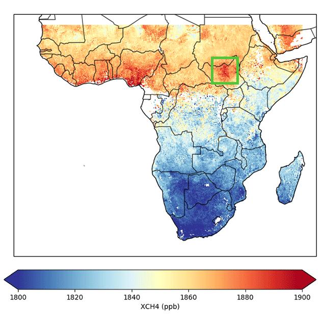 Mapa de metano
