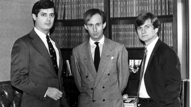 Paul Manafort, Roger Stone and Lee Atwater in 1985