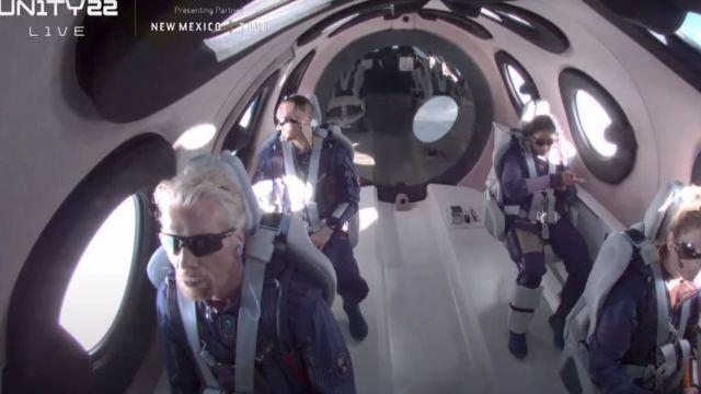 Richard Branson on the flight