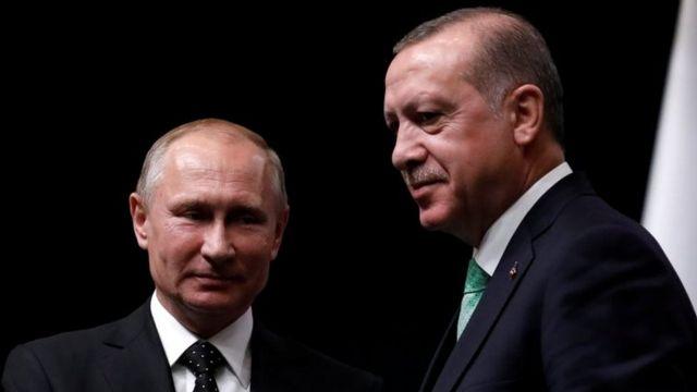 Rusya Devlet Başkanı Vladimir Putin ve Cumhurbaşkanı Recep Tayyip Erdoğan
