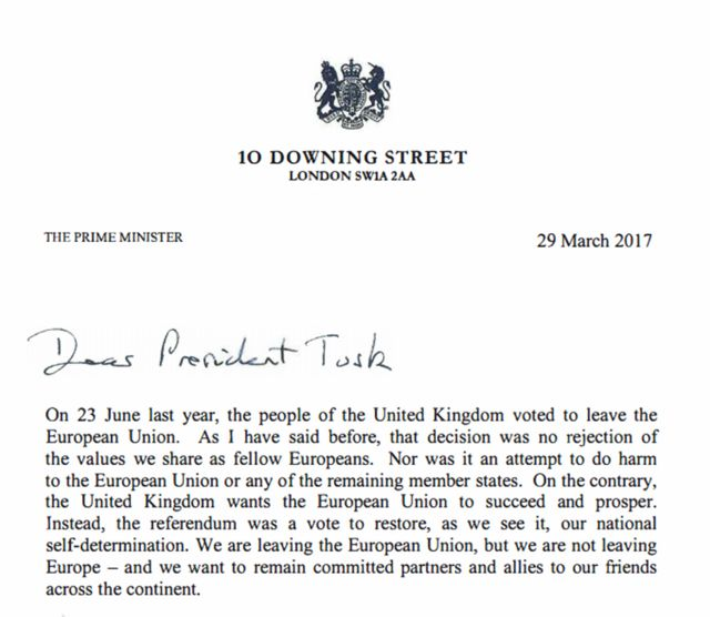 May letter to Tusk