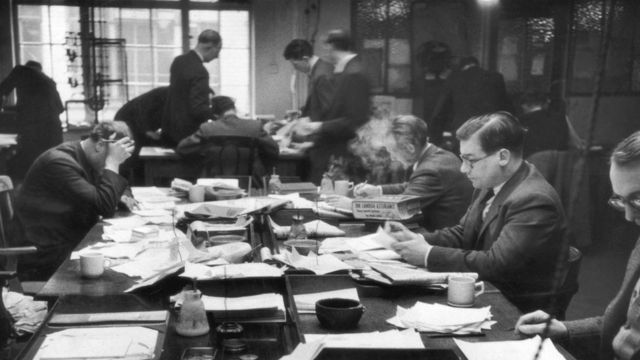 Редакция News of the World в 1953 году