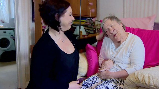 Mary Woodley's (right) 24-hour care was previously paid for by the ILF