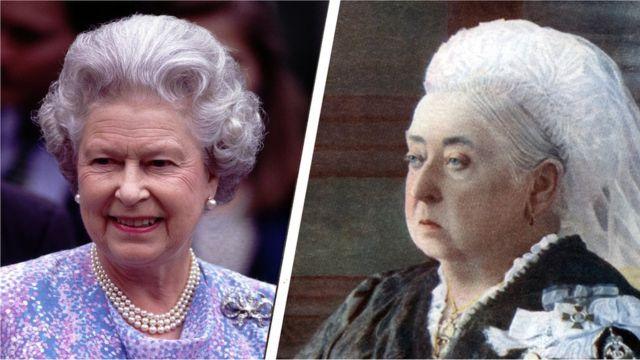 エリザベス女王と、これまで最長在位だった高祖母のビクトリア女王