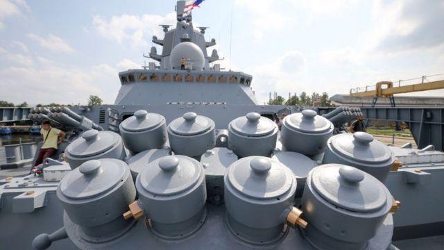 """На фрегаті """"Адмірал Горшков"""" встановлені пускові контейнери 3С14, з яких можна в майбутньому запускати ракети """"Циркон"""""""