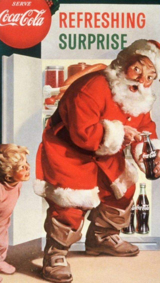 Father Christmas coke advert.