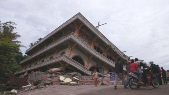Gempa Aceh berkekuatan 6,5 pada skala Richter yang mengguncang tiga kabupaten pada 7 Desember 2016.