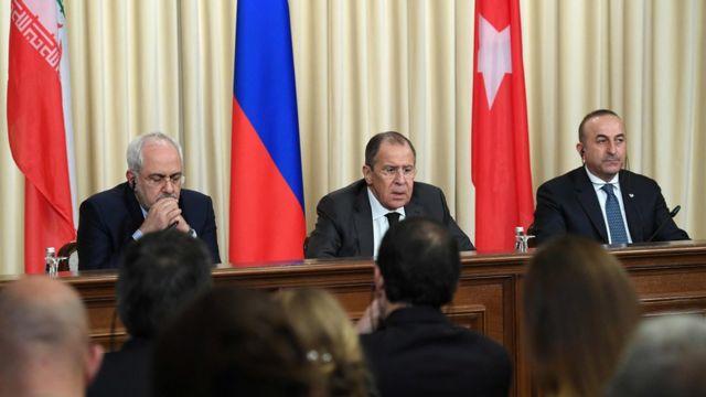 Zarif, Lavrov ve Çavuşoğlu
