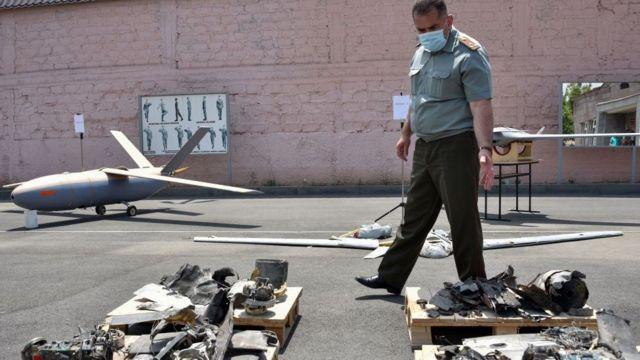 Выставка сбитых и перехваченных беспилотников в Ереване