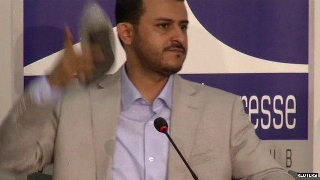 Head of the delegation, Hamza al-Houthi