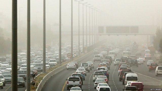 દિલ્હીના પ્રદૂષણની તસવીર