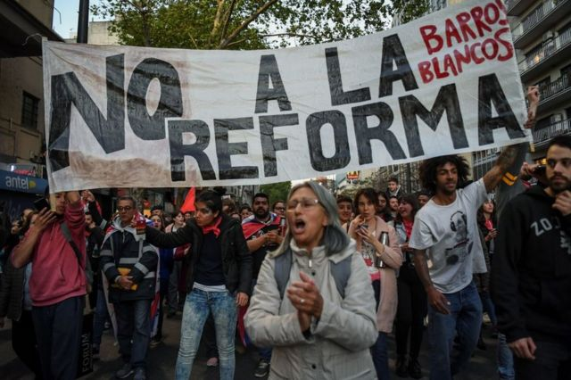 Una marcha contra la reforma Vivir sin miedo