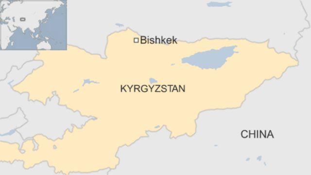 キルギスの首都ビシケク(Bishkek)の位置