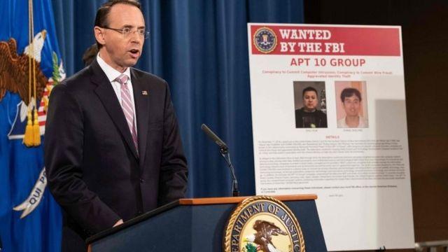 کنفرانس خبری معاو دادستان کل آمریکا درباره دو هکر چینی