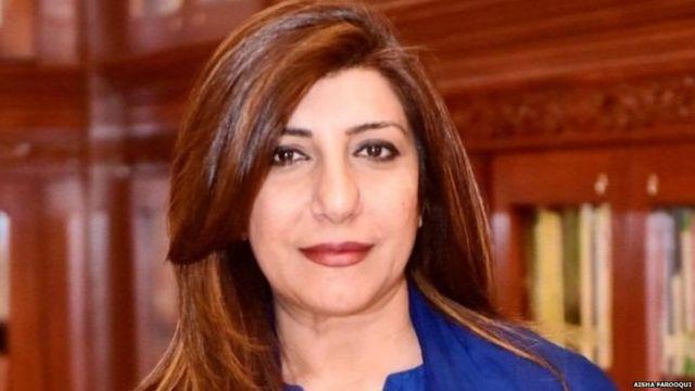 पाकिस्तानच्या परराष्ट्र मंत्रालयच्या प्रवक्त्या आयशा फारूकी
