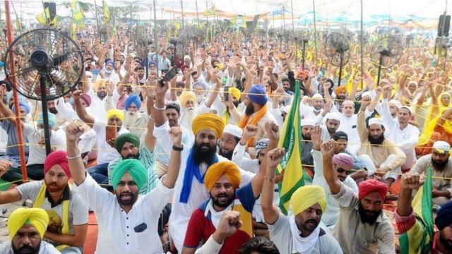 Punjab peasants at a protest