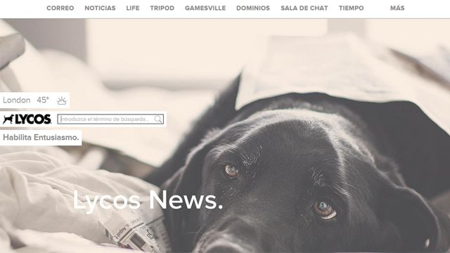 Captura de pantalla de Lycos