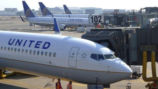 Aviones de United Airlines.