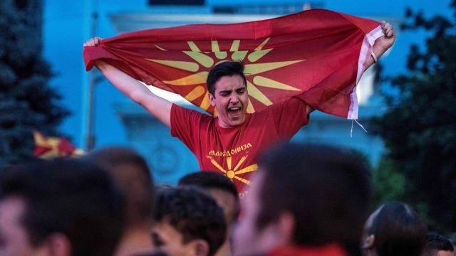Slavlje navijača u Skoplju