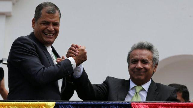 Rafael Correa con Lenín Moreno.