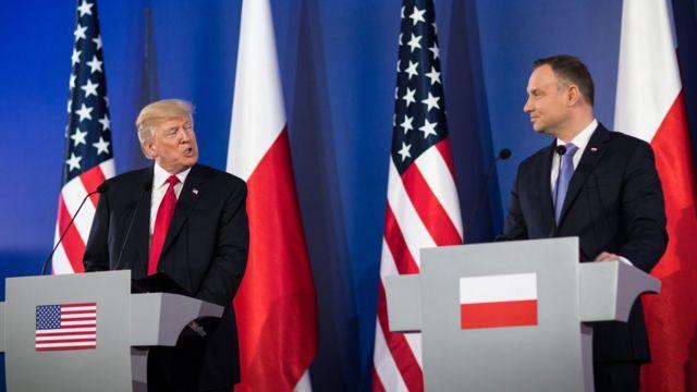 Donald Trump và Andrzej Duda