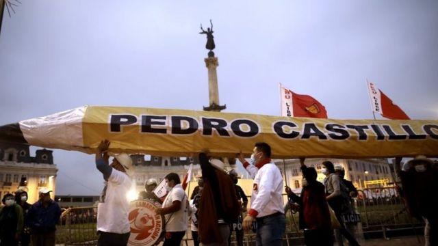 Simpatizantes de Pedro Castillo