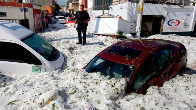 После снегопада в Гвадалахаре, 1 июля 2019