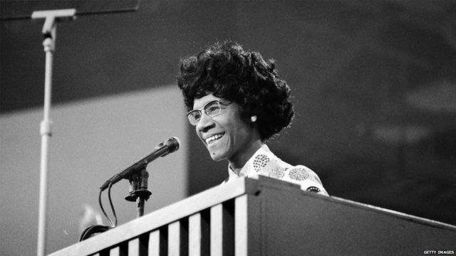 Shirley Chisholm durante la Convención Nacional Demócrata en 1972