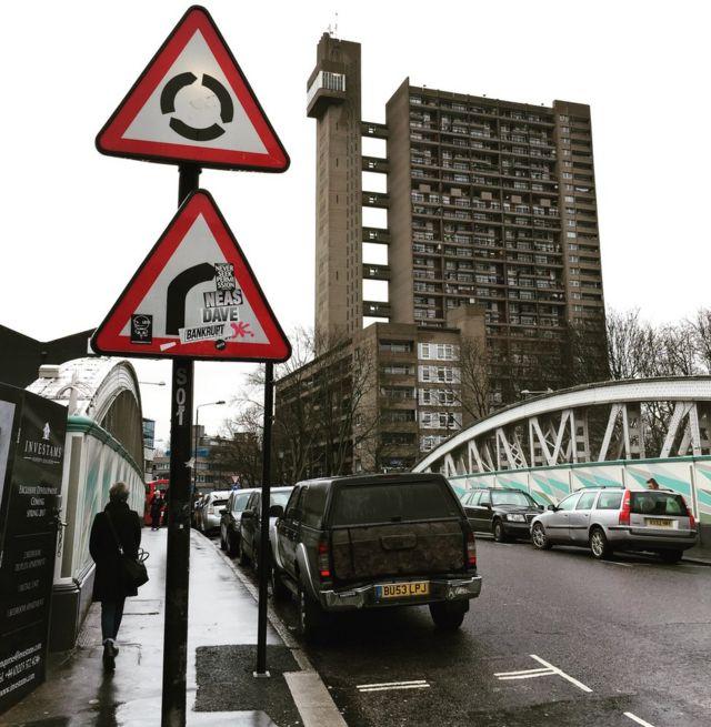 صورة لبرج سكني في لندن