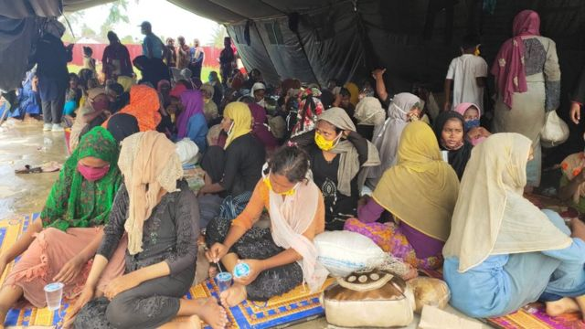 Kondisi pengungsi Rohingya (via HIDAYATULLAH/BBC)