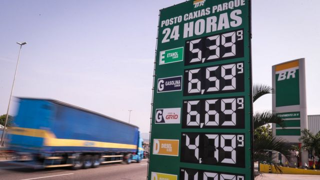 Totem de posto de gasolina