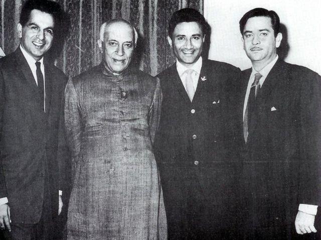 دلیپ کمار، جواہر لعل نہرو، دیو آنند اور راج کپور