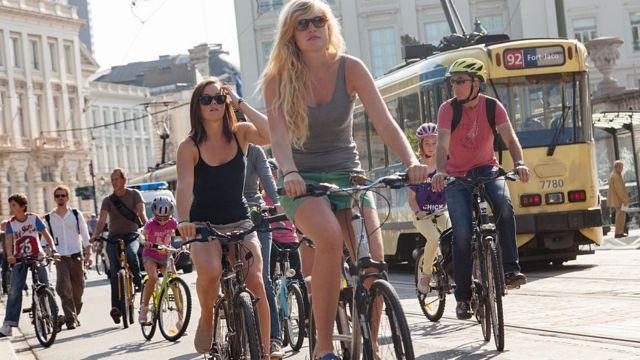 Bicicletas en Bélgica.