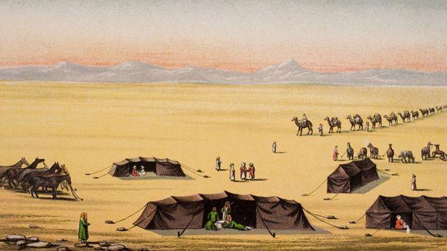 """""""Наш лагерь в пустыне"""". Иллюстрация к книге """"Жизнь капитана сэра Ричарда Бёртона"""""""
