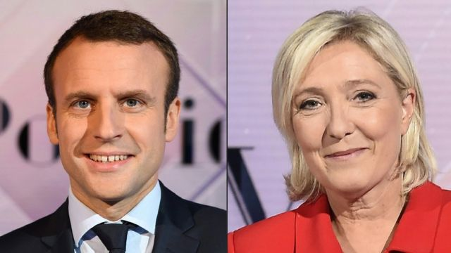 Ông Emmanuel Macron và bà Marine Le Pen sẽ tranh đua trong vòng hai bầu cử tổng thống Pháp