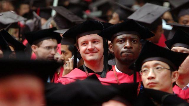 Estudiantes de la Universidad de Harvard