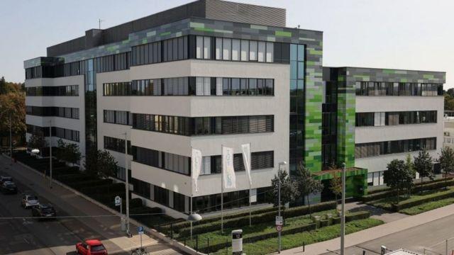 Kantor pusat BioNTech HQ di Mainz.