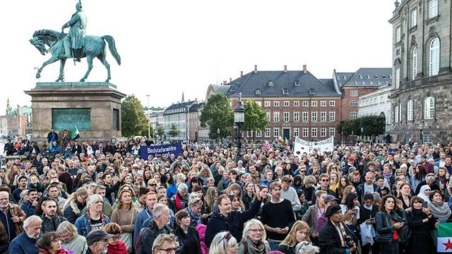 اعتراض به بمباران گسترده حلب در کپنهاگ، دانمارک