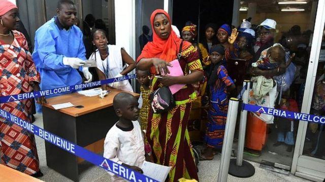 Des réfugiés en Côte d'Ivoire