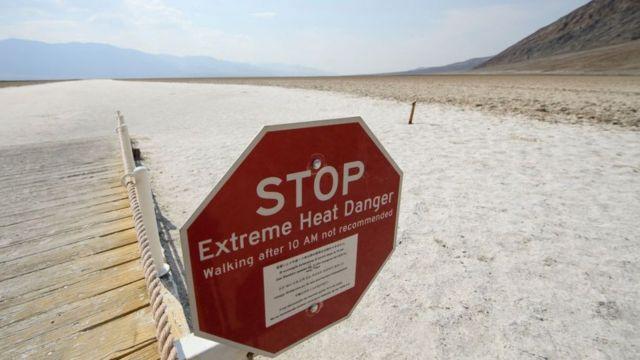Aşırı sıcak hava uyarısı.