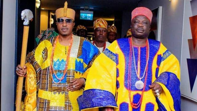 Olofa of offa Oba Muftau Oloyede Gbadamosi and Emperor Telu1